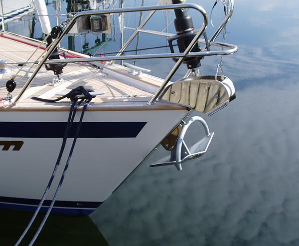 Fören på en segelbåt